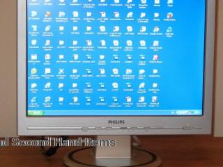 Silver PHILIPS Wide Screen Monitor 17